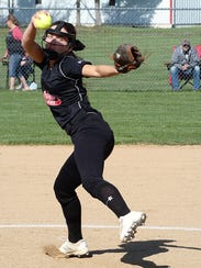 Crestview's Kennedy Hickey throws a pitch during her