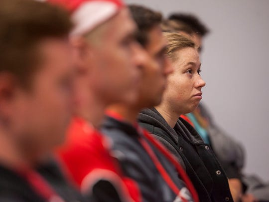 Southern Utah University students listen to Governor