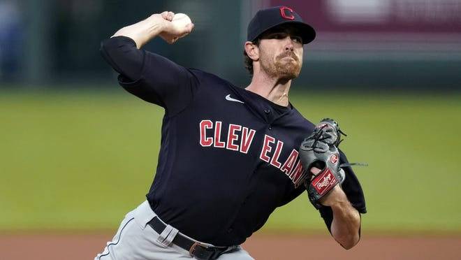 Cleveland Indians starting pitcher Shane Bieber was the Cy Young winner in the American League.
