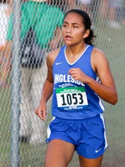 Ingleside's Jordan Blanton runs in the Region IV Cross Country Meet on Saturday, October 29th at the Dr. Jack A. Dugan Stadium in Corpus Christi.