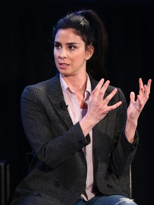 Sarah Silverman speaks onstage in 2017 during the Vulture Festival LA.