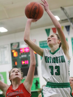 Huntington's Braiden Collins continues to rise on the area's scoring lists. Collins had a double-double in Thursday's win over Westfall, scoring 32 points and grabbing 10 steals.