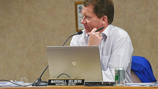 Sioux Falls City Councilor Marshall Selberg during a Sioux Falls Board of Equalization meeting Friday, March 24, 2017, at the Minnehaha County Administration building in Sioux Falls.