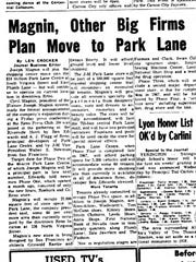 The Oct. 30, 1965 edition of the Nevada State Journal noted the influx of businesses to Park Lane Mall.