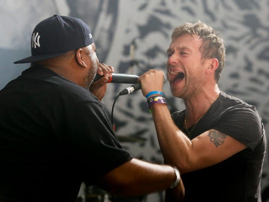 Damon Albarn and Vincent Mason
