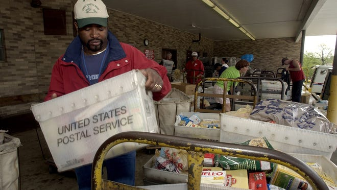 The annual Letter Carriers' Food Drive will take place Saturday.