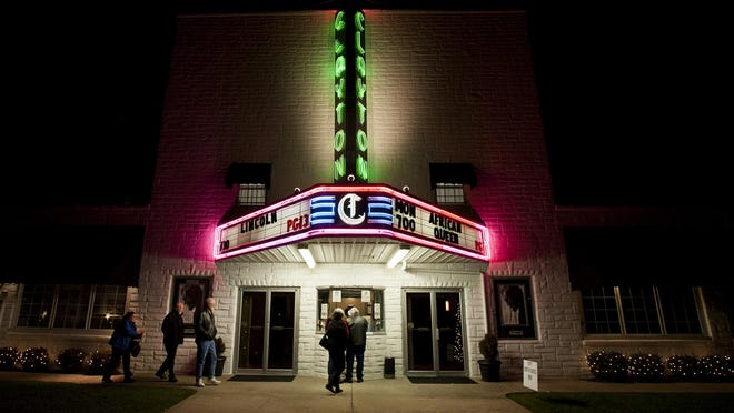 Customers line-up for tickets at the Clayton Theatre in Dagsboro in 2014.