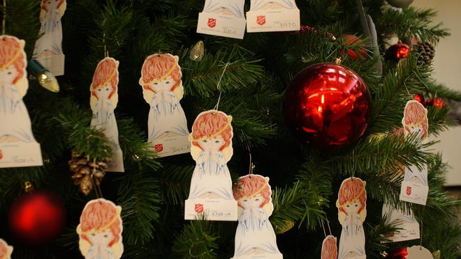 Democrat filesTags on The Salvation Army's Angel Tree have information about a needy child and a gift idea.