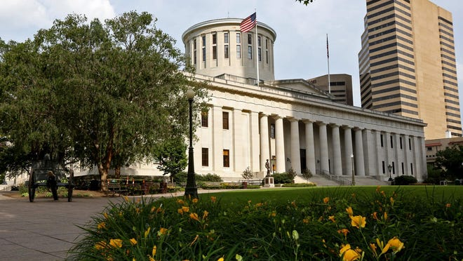 The Ohio Statehouse as photographed on the East side of the building near High Street in Columbus, Ohio on June 22, 2015.