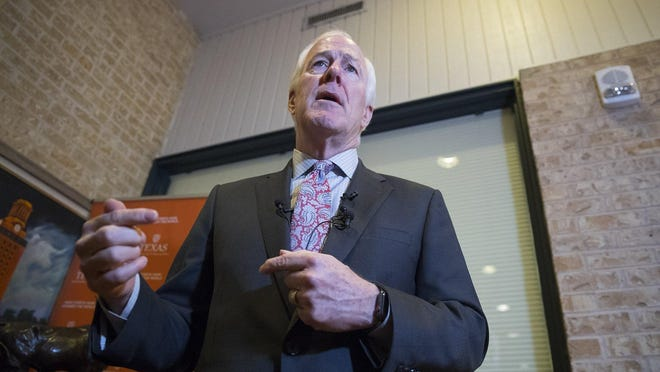 "Sen. John Cornyn, R-Texas, shown in 2018, recently said renaming Fort Hood or removing Confederate statues would ""erase our history."""