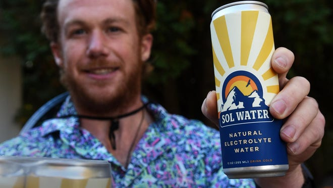 Calvin Engle, a Exeter High School graduate, has started a natural sports drink company called Sol Water.