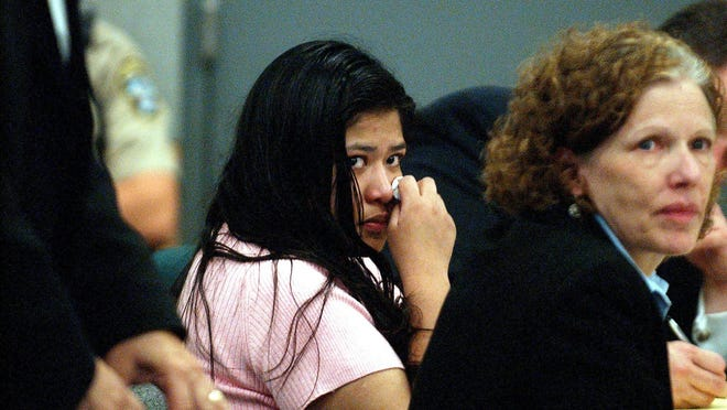Rosa Jimenez, shown during her 2005 trial, was convicted in the death of a toddler based on medical testimony that experts now believe was incorrect. A judge has ordered a new trial, but that ruling is under appeal.