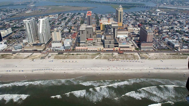 A view of the Atlantic City skyline.