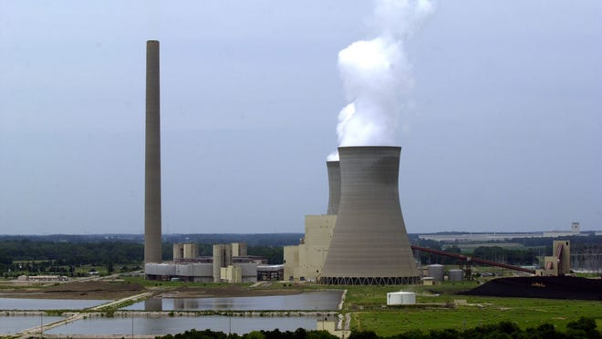 American Electric Power's plant in Rockport is among those that would be impacted by new federal emissions limits. Photo by John Dunham, Messenger-Inquirer (Owensboro).