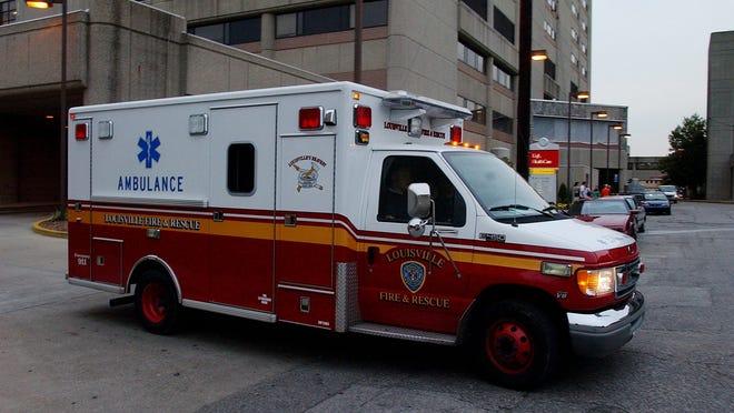 A Louisville Fire & Rescue vehicle