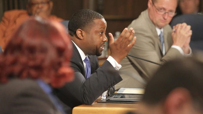 Wilmington city council member Justen A. Wright said he wasn't aware of the proposed pay increase for his wife until earlier in the day.