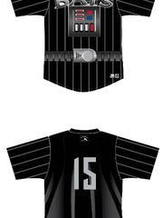 The Louisville Bats' Darth Vader-themed jerseys.