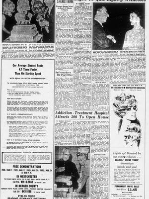 A page from The Record in the 1960s showing coverage of the Rat Finks, an ultraconservative faction of the New Jersey chapter of the Young Republicans.