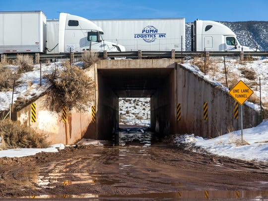 A tunnel north of Cedar City allows deer access to the valley without crossing I-15, Thursday, Feb. 11, 2016.