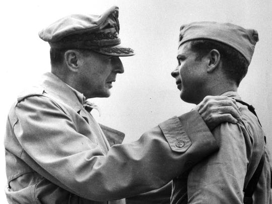 In 1944, Richard Bong (right) was awarded the nation's