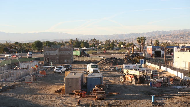 The Coachella Gateway development is expected to bring a number of restaurant and retail businesses to Coachella in the area of Harrison Avenue and Grapefruit Boulevard. The development, which is being constructed by Chandi Group USA through GSC & Sons Corporation and was planned to have its initial stage completed by January 2017.