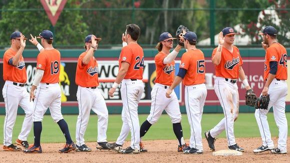 Auburn vs UCF during the NCAA Baseball Regional on