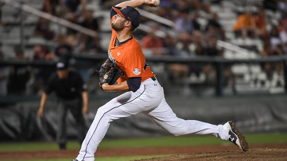 Cole Lipscomb  had 10 strikeouts in relief of Auburn's