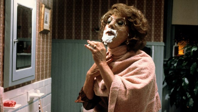 Dustin Hoffman, as Dorothy Michaels, in the 1982 comedy TOOTSIE.  Credit: Columbia Pictures.