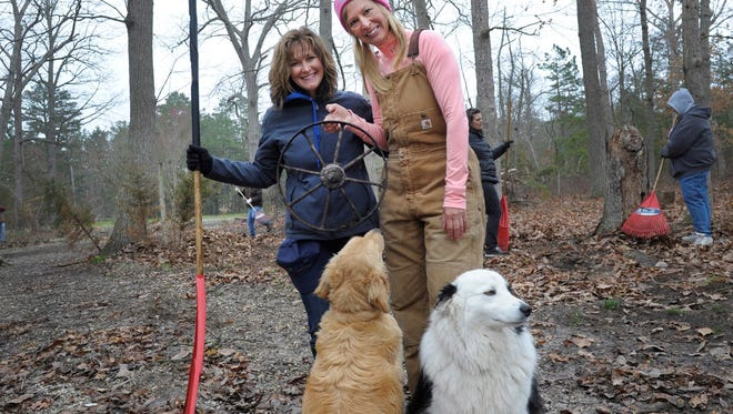 More than 100 Atlantic City Electric employees, their family members and friends, cleaned the stalls, grounds and facilities at the Funny Farm Rescue Animal Sanctuary which cares for more than 550 animals in southern New Jersey.