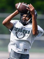 Cordova High School football team runs through drills