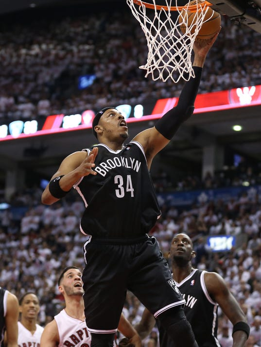 Paul Pierce lifts Nets in 4th to top Raptors in Game 1