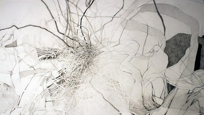 Visions of Power features delicate prints and drawings that revolve around the themes relating to the human condition.
