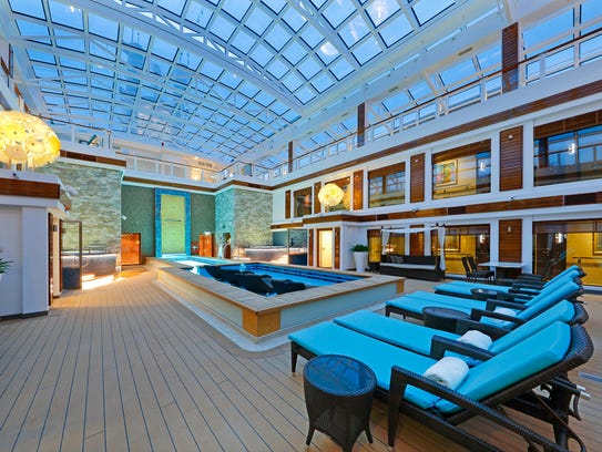 The Haven courtyard, a hotel-within-a-hotel experience,