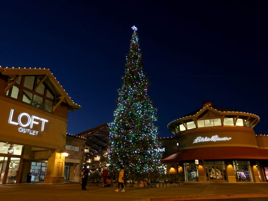 The tree lighting at Woodburn Premium Outlets will happen on Saturday, Nov. 17.
