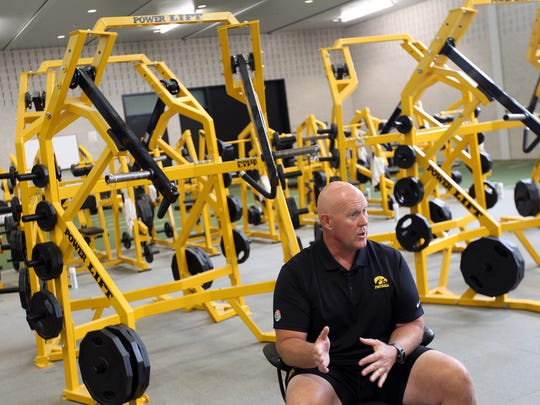 Chris Doyle, Iowa's strength and conditioning coach,