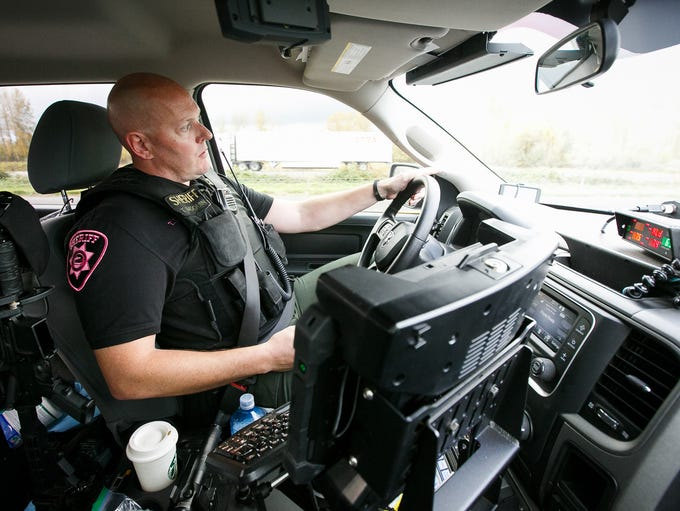 Marion County Sheriff's Office Sgt. Todd Moquin patrols