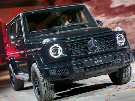 The Mercedes G-Class is revealed at the Michigan Theatre in Detroit on Sunday, January 14, 2018.