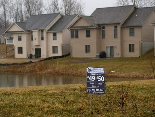 Mallard Ponds Condominiums subdivision in Burton is seen on Tuesday, April 3, 2018.