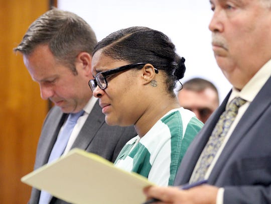 Jelani Webster becomes emotional as she is sentenced