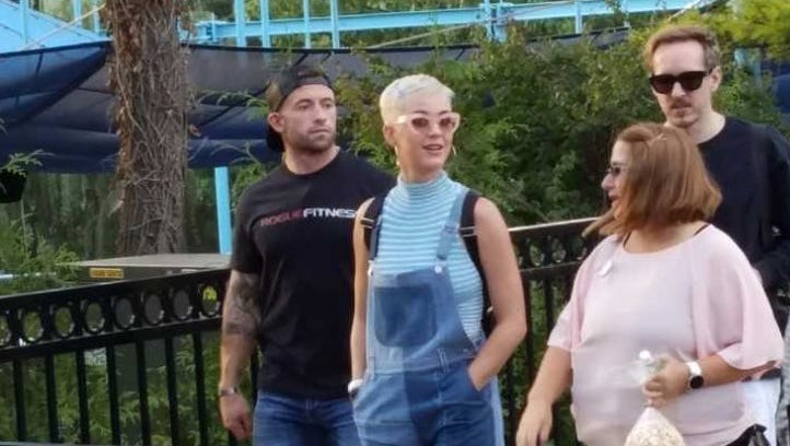 Pop star Katy Perry was spotted at Hersheypark on Saturday,