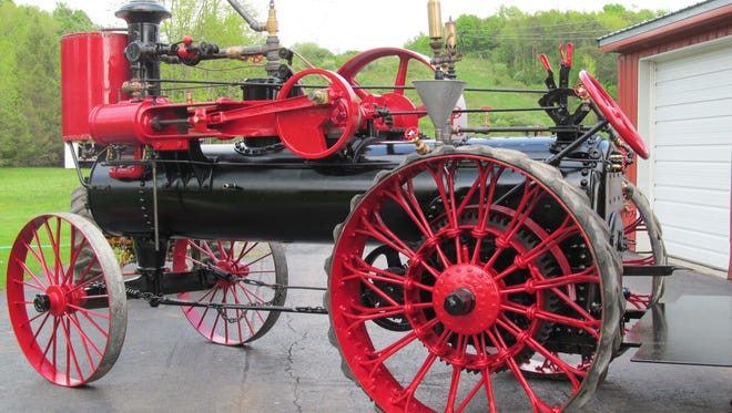 The restored Lang and Button steam engine.