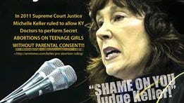 The attack ad against Supreme Court Justice Michelle Keller taken out by the Boone County GOP.