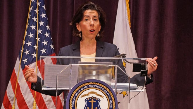 """It's a confidence-inspiring set of information today,"" Gov. Gina Raimondo said at her daily coronavirus briefing Monday."