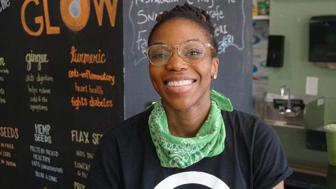 Eat, drink and glow is the motto of Priscilla Edwards' year old, Glow Cafe & Juice Bar.