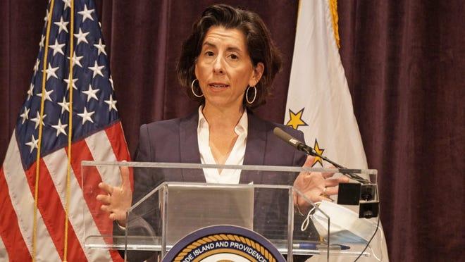Gov. Gina Raimondo delivers her daily coronavirus briefing on Thursday. Raimondo confirmed her desire to have summer camps in Rhode Island open June 29.