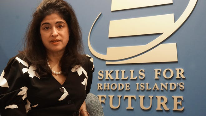 Nina Pande, executive director of Skills for Rhode Island's Future, says her nonprofit agency is helping the unemployed find work amid the economic disruptions of the COVID-19 pandemic.