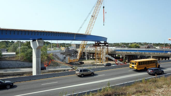 A wide view of the Routes 6-10 Connector construction site.
