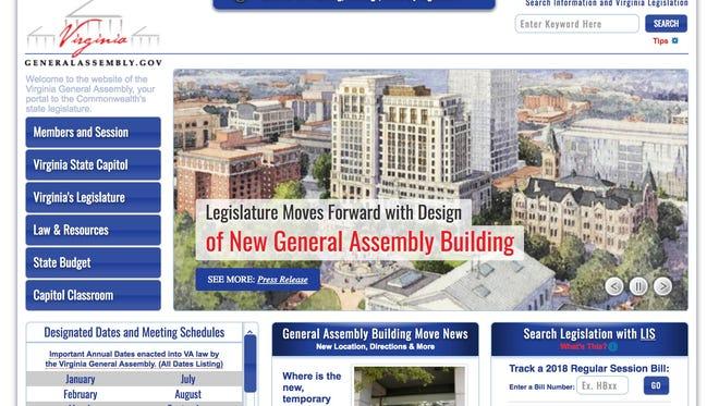 Virginia General Assembly website