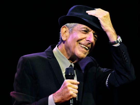 "FILE - In this April 17, 2009 file photo, Leonard Cohen performs during the first day of the Coachella Valley Music & Arts Festival in Indio, Calif. Cohen, the gravelly-voiced Canadian singer-songwriter of hits like ""Hallelujah,"" ""Suzanne"" and ""Bird on a Wire,"" has died, his management said in a statement Thursday, Nov. 10, 2016. He was 82."