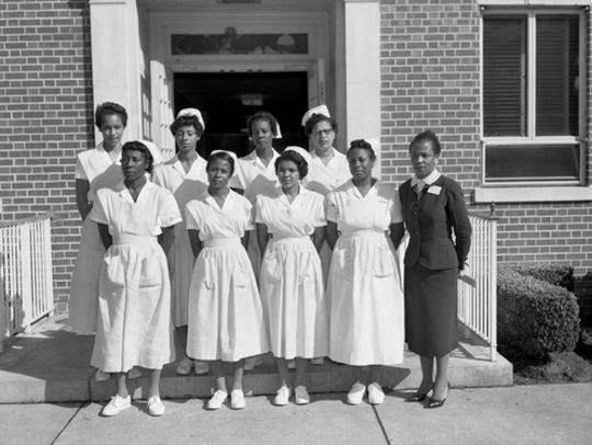 Students in the 1959 practical nursing class at Lincoln
